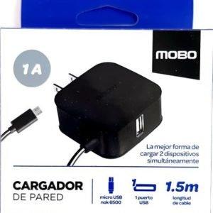 Cargador Micro USB Con puerto USB Mobo 1A