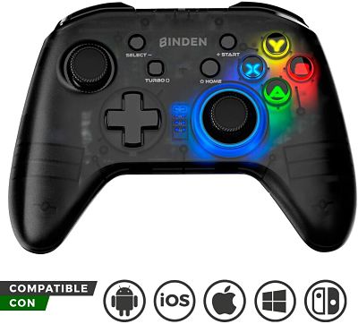 Control Inalámbrico Led Compatible con PC, Android, iOS, Nintendo Switch, iMAC