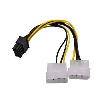Cable De Poder Pci-Express 8 Pines a 2 Molex 4 Pines