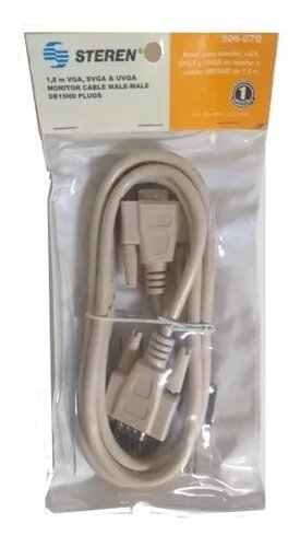 Cable VGA 1.8M Beige Steren
