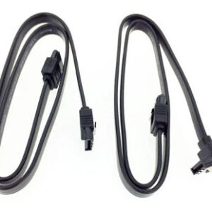 Kit de 2 Cables Sata Negro